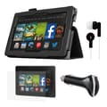 Mgear Accessories Kindle Fire HD 7 Folio Case with Screen Protector, Earphones, and More
