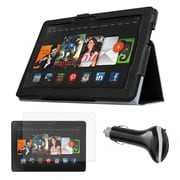 """Mgear Accessories 93587773M Synthetic Leather Folio Case for 8.9"""" Amazon Kindle Fire HDX 8.9 Tablet, Black"""
