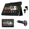Mgear Accessories Folio Case with Screen Protector, Earphones & Car Charger for Kindle Fire HDX 8.9