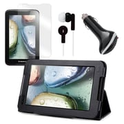 Mgear Accessories Lenovo IdeaTab A1000 Folio Case with Screen Protector, Earphones, & Car Charger