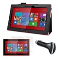 Mgear Accessories Nokia Lumia 2520 Folio Case, Protector & Car Charger