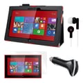 Mgear Accessories Black Folio Case with Screen Protector, Earphones, and More for Nokia Lumia 2520