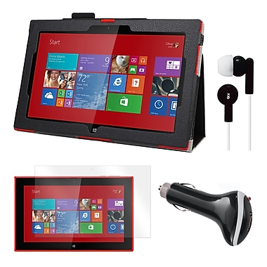 Mgear Accessories 93587829M Synthetic Leather Folio Case for Nokia Lumia 2520 Tablet, Black