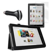 "Mgear Accessories 93587830M Synthetic Leather Folio Case for 9"" Nook HD+ Tablet, Black"