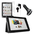 Mgear Accessories Nook HD+ 9 Folio Case with Screen Protector, Earphones & Car Charger