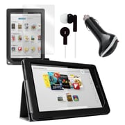 "Mgear Accessories 93587831M Synthetic Leather Folio Case for 9"" Nook HD+ 9 Tablet, Black"