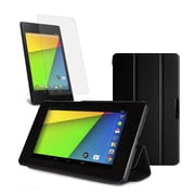 Mgear Accessories 93586798M Synthetic Leather Tri Fold Folio Case for Google Nexus 7 2nd Gen Tablet, Black