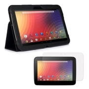 Mgear Accessories 93586808M Synthetic Leather Double Fold Folio Case for Google Nexus 10 Tablet, Black