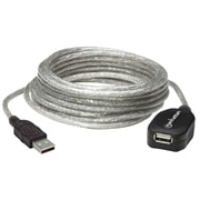 Manhattan 16' USB 2.0 Male to Female Extension Cable, Silver