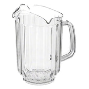 Supera P-60C, 60 oz Clear Polycarbonate Water Pitcher