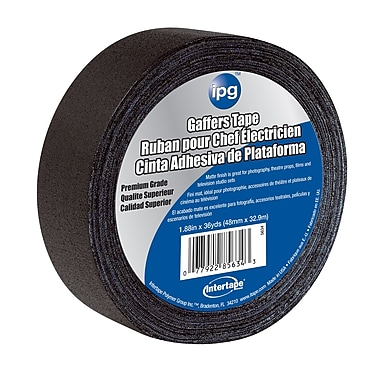 Intertape® 11.5 mil Matte Finish Cloth Gaffer Tape, 1.88
