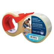 "Intertape® Premium 1.88"" x 60 yds. Packing Tape W/Dispenser/Corrugrip, Clear, 6 Roll"