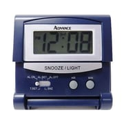 Geneva Clock 6040AT LCD Travel Alarm Clock, Blue