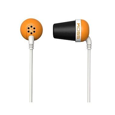 Koss PLUG O Wired In-Ear Headphone, Orange
