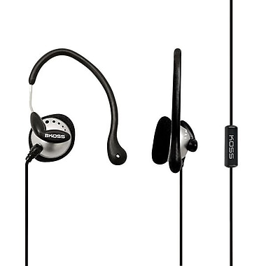 Koss KSC22I Wired Ear Clip Headphone, Black/Silver