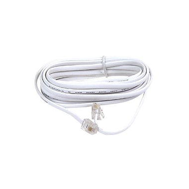 Belkin™ F8V100 25' RJ-11/RJ-11 Phone Modular Patch Cross Cable, White
