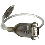 Iogear® 1' USB 1.1 DB-9 Male To Type A Male RS-232 Serial Adapter