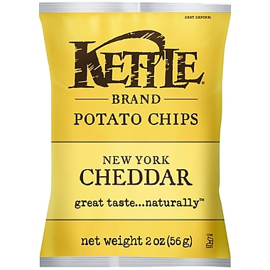 Kettle Brand New York Cheddar Potato Chips with Herbs 2 Oz., 24/Pack