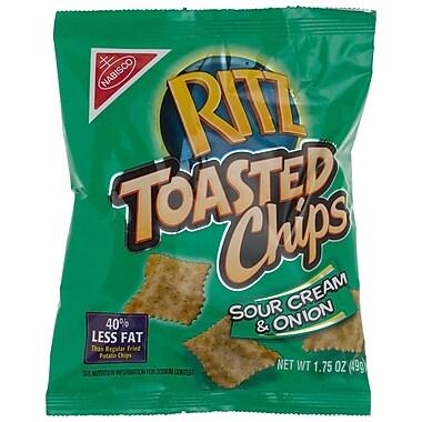 Ritz Chips, Sour Cream & Onion 1.75 Oz., 48/Pack