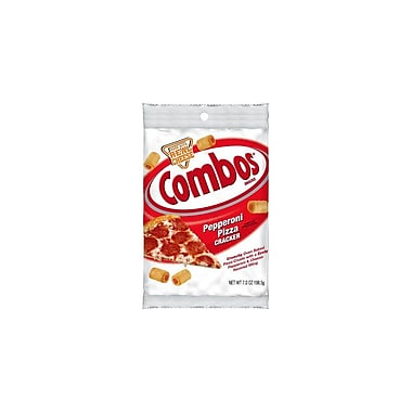 Combos Baked Snacks Pepperoni Pizza Cracker 7 Oz., 12/Pack