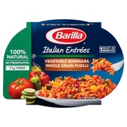 Barilla Vegetable Marinara Whole Grain Fusilli Italian Entree Microwavable Bowls 9 Oz. 6/Pack