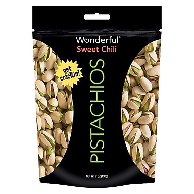 Wonderful Sweet Chili Pistachios 7 Oz., 4/Pack