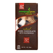 Endangered Species Chocolate Dark Red Raspberry Grizzly 3 Oz. 6/Pack