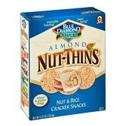 Blue Diamond Natural Almond Nut Thins Cracker Snacks 4.25 Oz., 12/Pack
