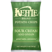 Kettle Brand Potato Chips, Sour Cream and Onion 5 Oz.