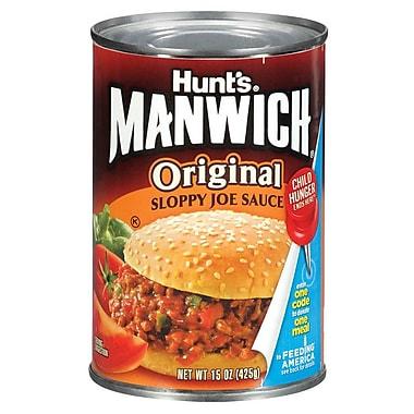 Hunt s Manwich Sloppy Joe Sauce, Original 15 Oz, 16/Pack