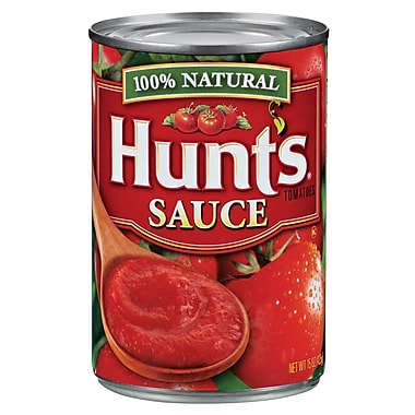 Hunt s 100% Natural Tomatoes Sauce 15 Oz, 24/Pack