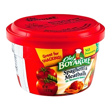 Chef Boyardee Microwavable Spaghetti & Meat Balls In Tomato Sauce 7.5 Oz, 24/Pack