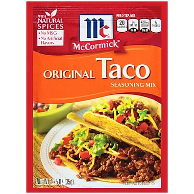 McCormick Original TACO Seasoning Mix 1.25 Oz, 24/Pack