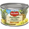 Del Monte Pineapple Chunks in 100% Pineapple Juice 8 Oz, 24/Pack