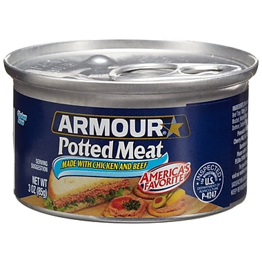 Armour Potted Chicken & Beef 3 Oz, 48/Pack