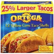 Ortega Yellow Corn Taco Shells 5.8 Oz., 12/Pack