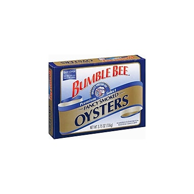 Bumble Bee Smoked Oysters 3.75 Oz., 12/Pack