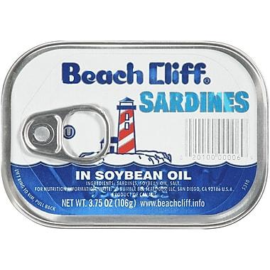 Beach Cliff Sardines in Soybean Oil 3.75 Oz., 24/Pack