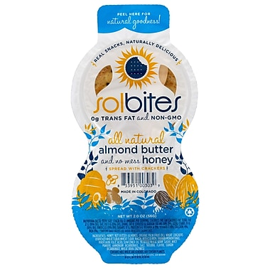 SolBites Nut Butters Almond with Honey 2 Oz., 36/Pack