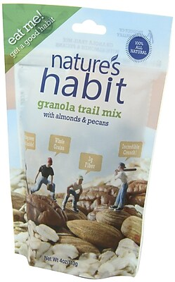 Nature s Habit Granola Trail Mix with Almonds and Pecans 4 Oz. Pouches 16/Pack 1057876