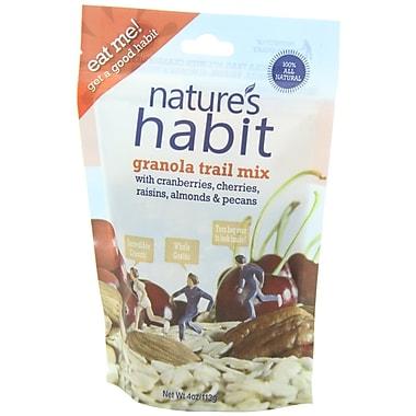 Nature s Habit Granola Trail Mix with Cranberries Cherries Raisins Almonds and Pecans 4 Oz. 16/Pack
