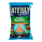 Late July Organic Snacks Dude Ranch Multigrain Tortilla Chips 5.5 Oz., 12/Pack