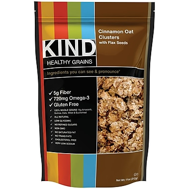 KIND Healthy Grains Cinnamon Oat Clusters With Flax Seeds 11 Oz., 6/Pack