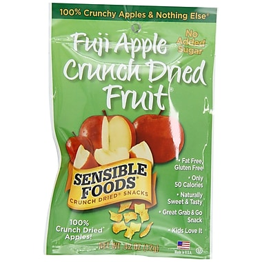 Sensible Foods Crunch Dried Fruit Snacks, 0.42 Oz., 48/Pack