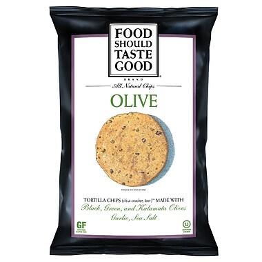 Food Should Taste Good Olive Tortilla 1.5 oz. Chips 24/Pack 1.5 Oz.