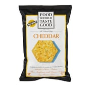 Food Should Taste Good Chip Tortla Cheddar Gf, 5.5 OZ. 8/Pack