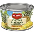 Del Monte Canned Pineapple in 100 percent Juice 8 Oz, 24/Pack