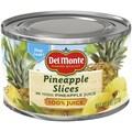 Del Monte Sliced Pineapple in Juice 0.5 lbs., 24/Pack