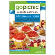 gopicnic Turkey Pepperoni & Cheese Ready-to-Eat Meals 3 Oz. 6/Pack