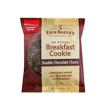 Erin Baker s Breakfast Cookies, Double Chocolate Chunk, 3 Oz. 24/Pack